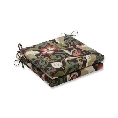 Pillow Perfect Outdoor / Indoor Coventry Cafe Squared Corners Seat Cushion 20x20x3 (Set of 2)