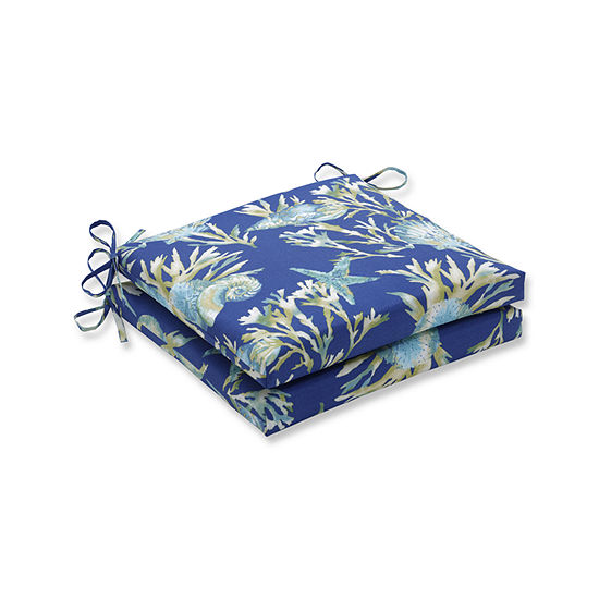 Pillow Perfect Outdoor Indoor Daytrip Squared Corners Seat Cushion 20x20x3 Set Of 2