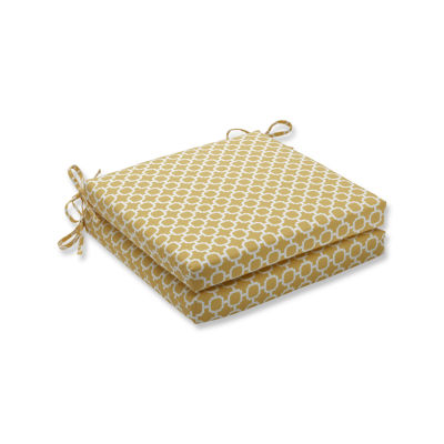 Pillow Perfect Outdoor / Indoor Hockley Squared Corners Seat Cushion 20x20x3 (Set of 2)