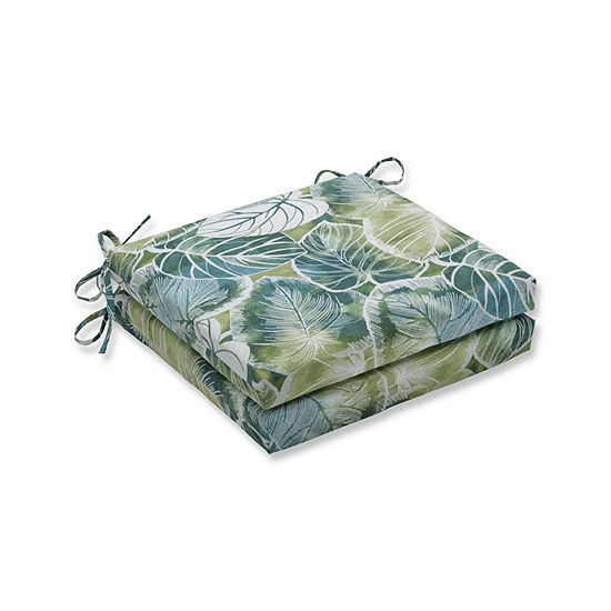 Pillow Perfect Outdoor Indoor Key Cove Lagoon Squared Corners Seat Cushion 20x20x3 Set Of 2