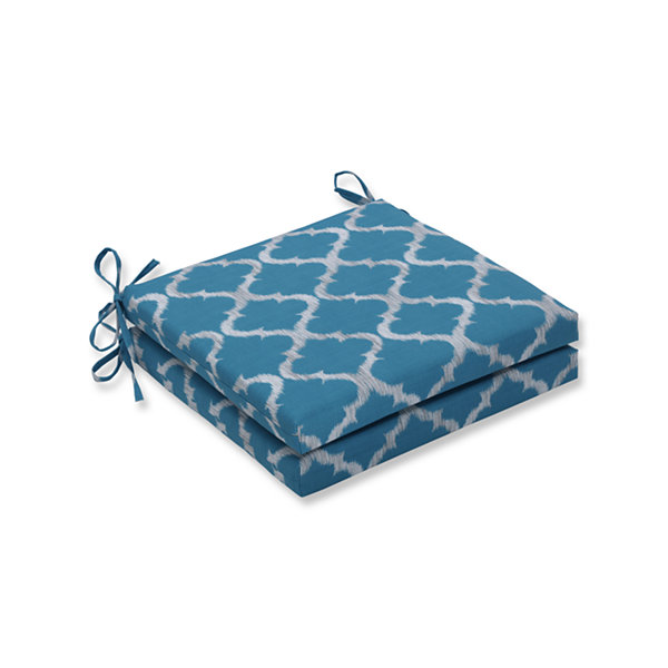 Pillow Perfect Outdoor / Indoor Kobette Squared Corners Seat Cushion 20x20x3 (Set of 2)