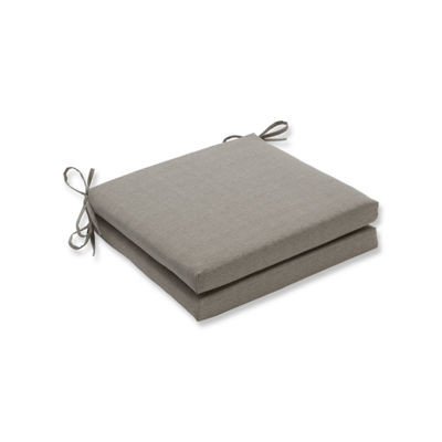 Pillow Perfect Outdoor / Indoor Monti Chino Squared Corners Seat Cushion 20x20x3 (Set of 2)