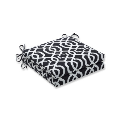 Pillow Perfect Outdoor / Indoor New Geo Squared Corners Seat Cushion 20x20x3 (Set of 2)
