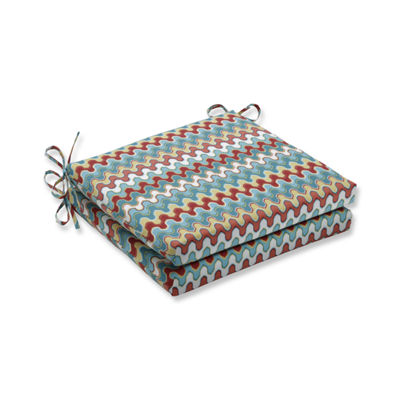 Pillow Perfect Outdoor / Indoor Nivala Navajo Squared Corners Seat Cushion 20x20x3 (Set of 2)