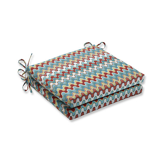 Pillow Perfect Outdoor Indoor Nivala Navajo Squared Corners Seat Cushion 20x20x3 Set Of 2