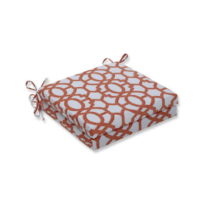 Pillow Perfect Outdoor / Indoor Nunu Geo Squared Corners Seat Cushion 20x20x3 (Set of 2)