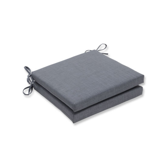 Pillow Perfect Outdoor / Indoor Rave Squared Corners Seat Cushion 20x20x3 (Set of 2)
