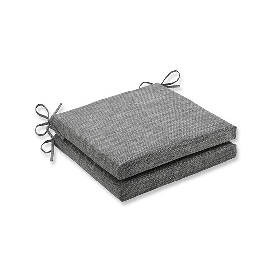 Pillow Perfect Outdoor Indoor Remi Squared Corners Seat Cushion 20x20x3 Set Of 2