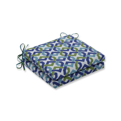 Pillow Perfect Outdoor / Indoor Rieser Lagoon Squared Corners Seat Cushion 20x20x3 (Set of 2)