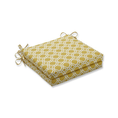 Pillow Perfect Outdoor / Indoor Rossmere Sunshine Squared Corners Seat Cushion 20x20x3 (Set of 2)