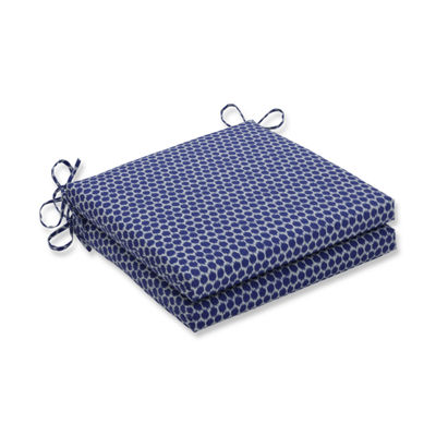 Pillow Perfect Outdoor / Indoor Seeing Spots Squared Corners Seat Cushion 20x20x3 (Set of 2)