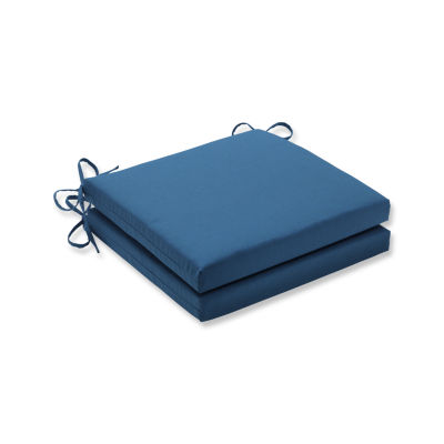 Pillow Perfect Outdoor / Indoor Spectrum Peacock Squared Corners Seat Cushion 20x20x3 (Set of 2)