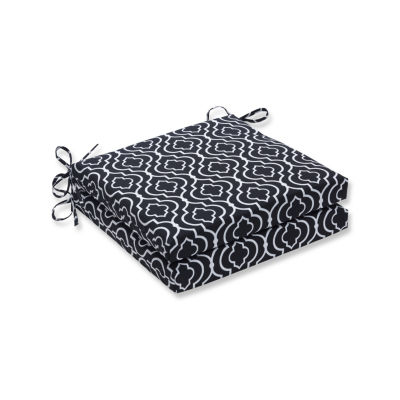 Pillow Perfect Outdoor / Indoor Starlet Night Squared Corners Seat Cushion 20x20x3 (Set of 2)