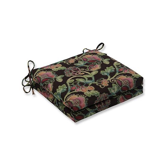 Pillow Perfect Outdoor / Indoor Vagabond ParadiseSquared Corners Seat Cushion 20x20x3 (Set of 2)