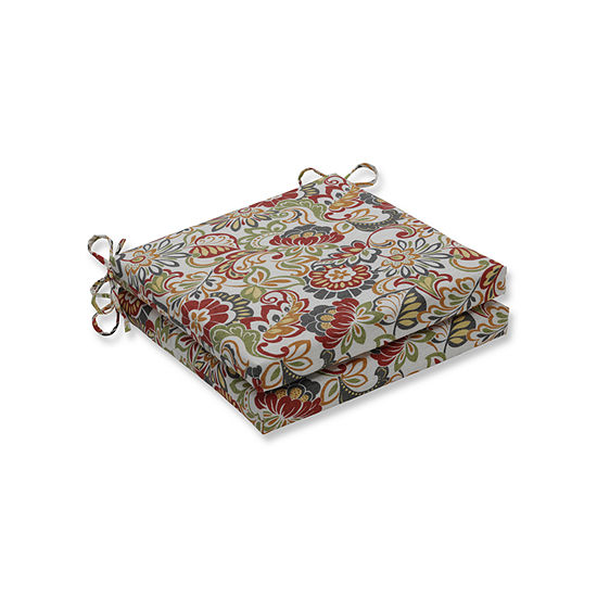 Pillow Perfect Outdoor / Indoor Zoe Squared Corners Seat Cushion 20x20x3 (Set of 2)