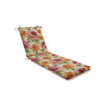 Pillow Perfect Outdoor / Indoor Muree Primrose Chaise Lounge Cushion 80x23x3