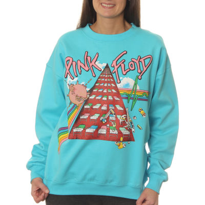 Pink Floyd Juniors' Symbolic Tribute Neon Crewneck Graphic Sweatshirt
