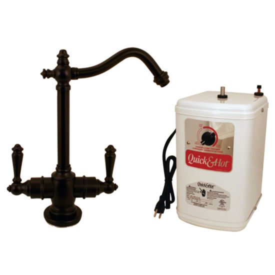 Westbrass D205H Victorian 9 in. Hot and Cold Water Dispenser and Tank