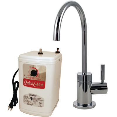 Contemporary 1-Handle Hot and Cold Water Dispenser Faucet with Instant Hot Tank Westbrass D2071H