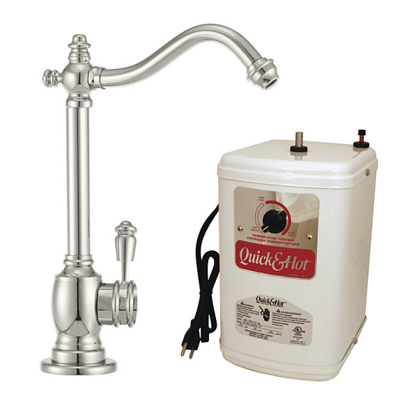Victorian 1-Handle Hot and Cold Water Dispenser Faucet with Instant Hot Tank Westbrass D207H