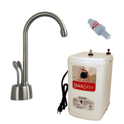 Develosah 2-Handle Hot and Cold Water Dispenser with Tank Westbrass D272H