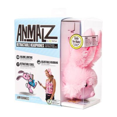 ReTrak Animalz Retractable Bunny Headphones