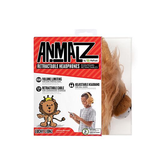 ReTrak Animalz Retractable Lion Headphones