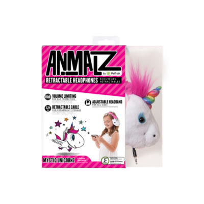 ReTrak Animalz Retractable Unicorn Headphones
