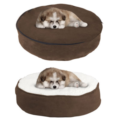 Petmaker Memory Foam Pillow Top Reversible Pet Bed