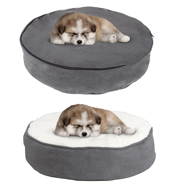 Petmaker Memory Foam Pillow Top Reversible Pet Bed