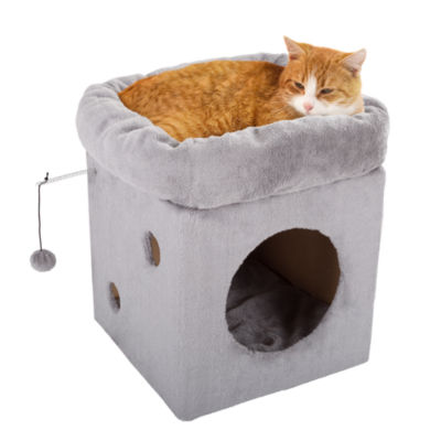 Petmaker Cat Condo with 2 Removable Plush Pads