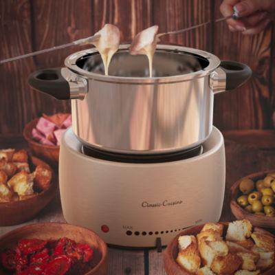 Stainless Steel Fondue Pot Set- Melting Pot Cooker by Classic Cuisine