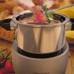 Stainless Steel Fondue Pot Set- Melting Pot Cooker by Classic Cuisine