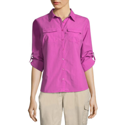 Columbia Sportswear Co. Womens Long Sleeve Button-Front Shirt