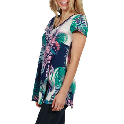 24/7 Comfort Apparel Shelley Tunic Top