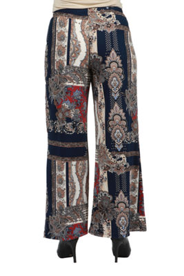 24/7 Comfort Apparel Courtyard Palazzo Pants - Plus