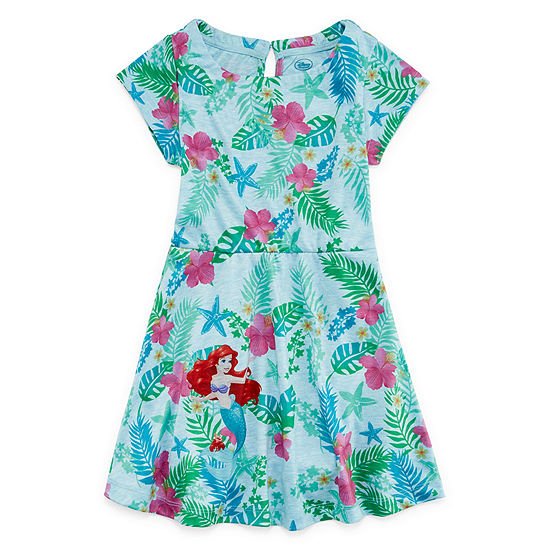 Disney Short Sleeve Frozen Skater Dress - Big Kid Girls