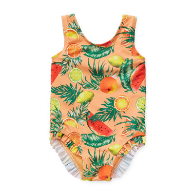 City Streets Baby Girls One Piece Swimsuit