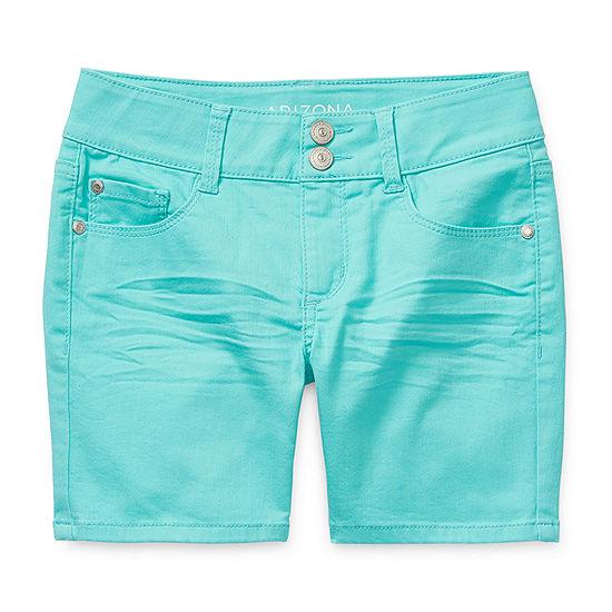 Arizona Girls Adjustable Waist Midi Short
