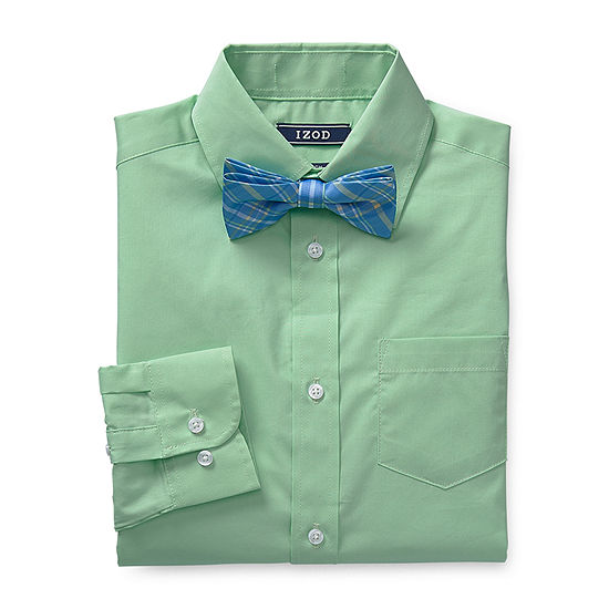 IZOD Boys Long Sleeve Shirt + Tie Set - Big Kid