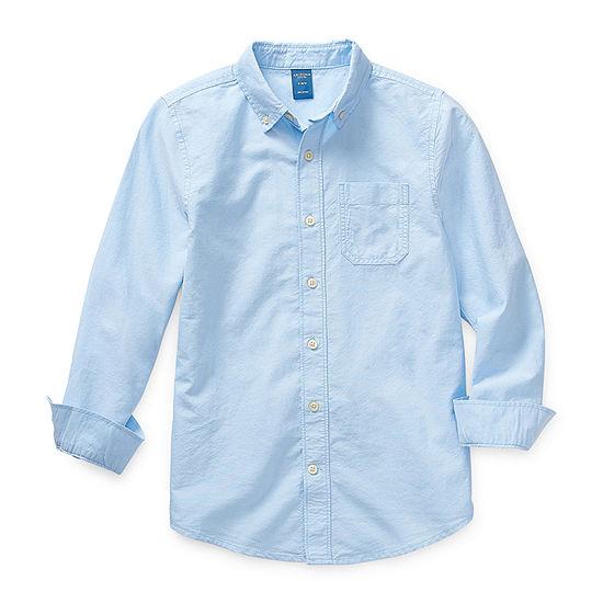 Arizona Little Kid / Big Kid Boys Long Sleeve Button-Front Shirt