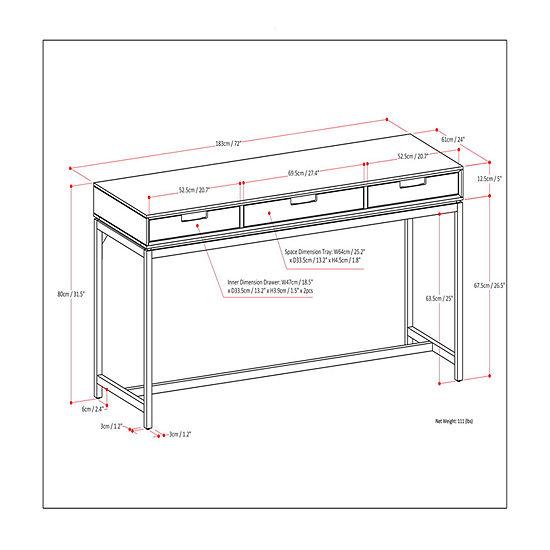 Simpli Home Kline End Table