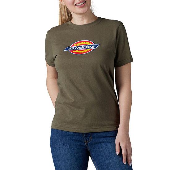 Dickies Womens Crew Neck Short Sleeve Graphic T-Shirt