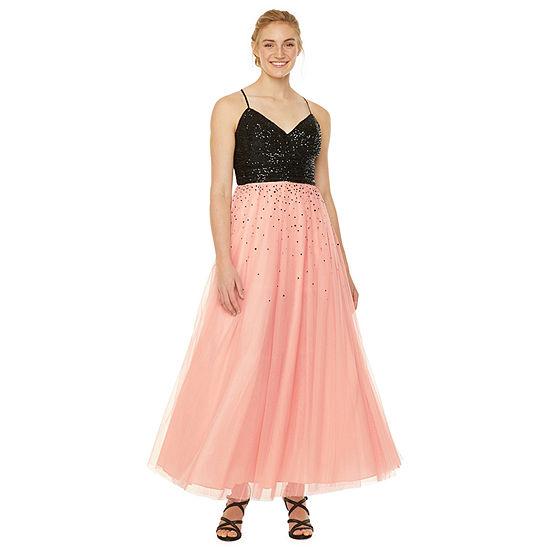 Jackie Jon Sleeveless Ball Gown-Juniors