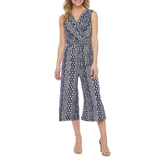 Connected Apparel Sleeveless Jumpsuit