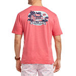 IZOD Saltwater Mens Crew Neck Short Sleeve Graphic T-Shirt