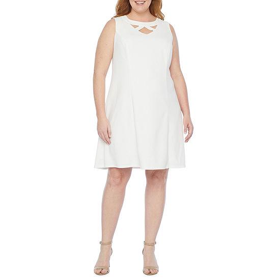 Alyx-Plus Sleeveless Fit & Flare Dress