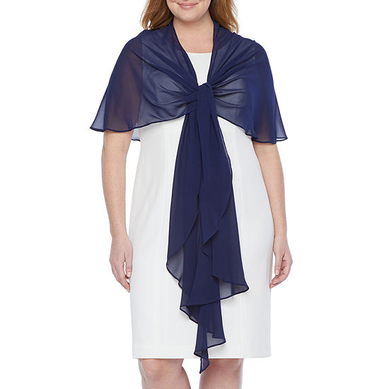 J Taylor Womens Multi Way Shawl Cover-Up-Plus