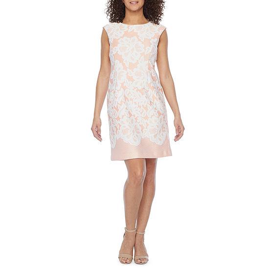 Studio 1-Petite Sleeveless Sheath Dress