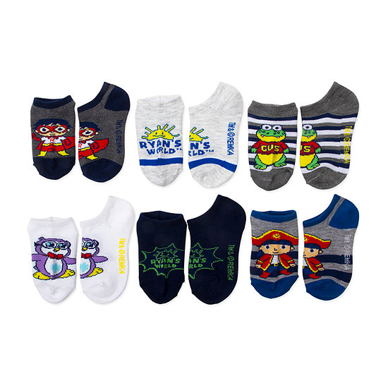 Little Kid Boys 6 Pair No Show Socks